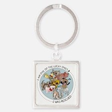luckyone Square Keychain