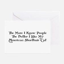 Like Shorthair Greeting Cards (Pk of 10)