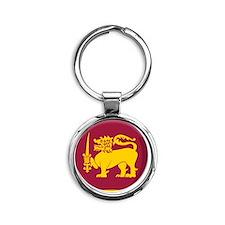 srilanka Round Keychain