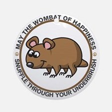 wombat Round Ornament