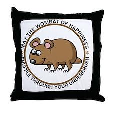 wombat3 Throw Pillow