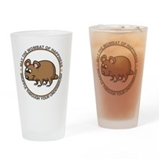 wombat3 Drinking Glass
