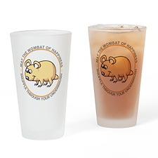 wombat2 Drinking Glass