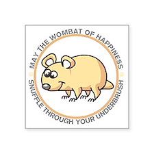 "wombat2 Square Sticker 3"" x 3"""