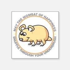 "wombat2 Square Sticker 3"" x 3"""