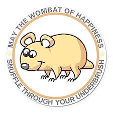 wombat2 Round Car Magnet