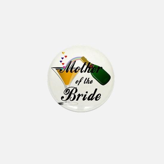 mother of bride black Mini Button