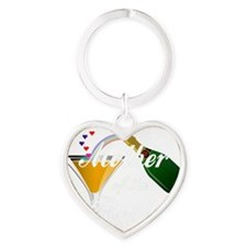 mother of bride white Heart Keychain