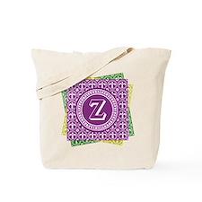 Initial Z Mardi Gras Fleur De Lys Tote Bag