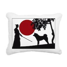 Akita Samurai Rectangular Canvas Pillow