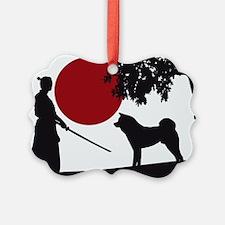 Akita Samurai Ornament