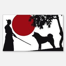 Akita Samurai Decal