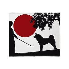 Akita Samurai Throw Blanket