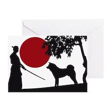 Akita Samurai Greeting Card