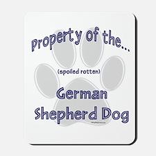 German Shepherd Property Mousepad