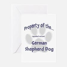 German Shepherd Property Greeting Cards (Package o