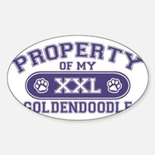 goldendoodleproperty Sticker (Oval)
