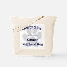 German Shepherd Property Tote Bag