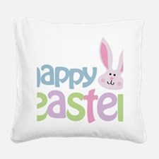 happyeaster Square Canvas Pillow