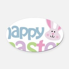 happyeaster Oval Car Magnet