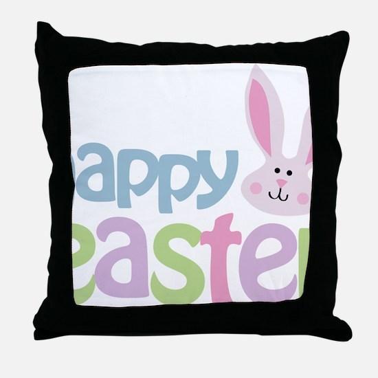 happyeaster Throw Pillow