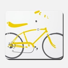 bananna bike dark Mousepad