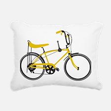 bananna bike lite Rectangular Canvas Pillow