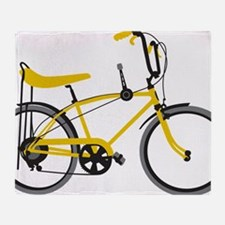 bananna bike lite Throw Blanket