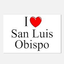"""I Love San Luis Obispo"" Postcards (Package of 8)"