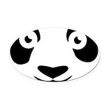 Panda Oval Car Magnet
