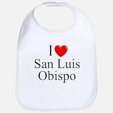 """I Love San Luis Obispo"" Bib"