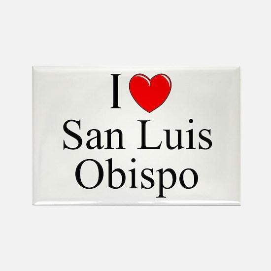 """I Love San Luis Obispo"" Rectangle Magnet"