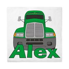 alex-b-trucker Queen Duvet