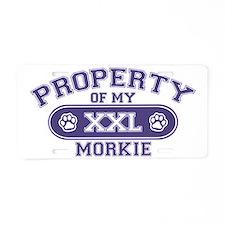 morkieproperty Aluminum License Plate