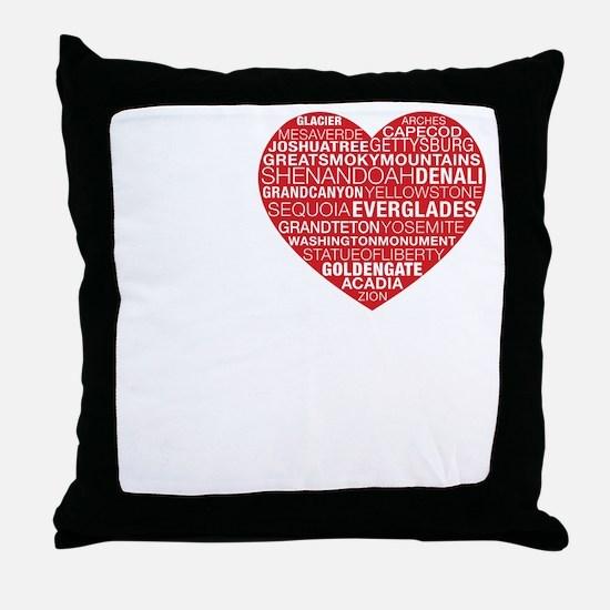 black_tee Throw Pillow