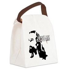 Jesus Shaves copy Canvas Lunch Bag