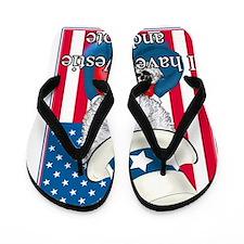 Uncle Sam Westie Flip Flops