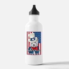 Uncle Sam Westie Water Bottle