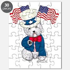 Yankee Doodle Westie Puzzle