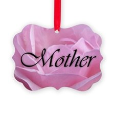 Pink Rose Mother Ornament
