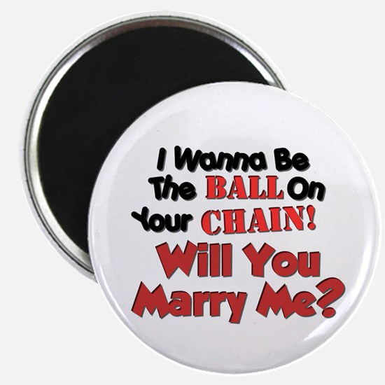 Unique Will you marry me Magnet