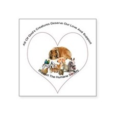 "humane society trans copy Square Sticker 3"" x 3"""