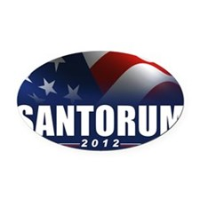 SANTORUM_BANNER Oval Car Magnet