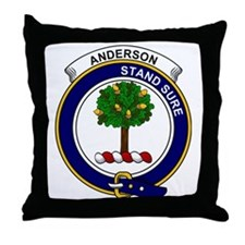 Anderson Clan Badge Throw Pillow