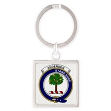 Anderson Clan Badge Square Keychain