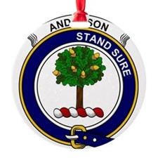 Anderson Clan Badge Round Ornament