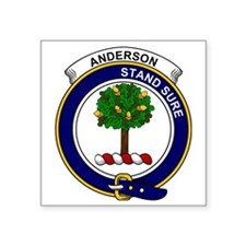 "Anderson Clan Badge Square Sticker 3"" x 3"""