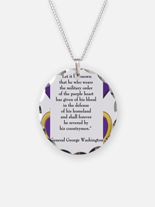 purpleheartedit Necklace