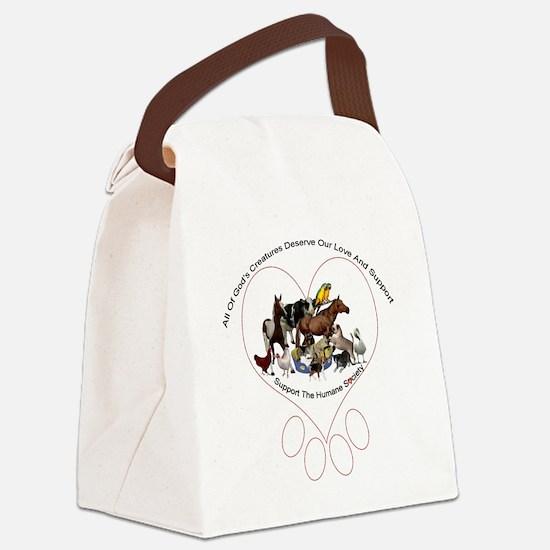 humane society trans b copy Canvas Lunch Bag