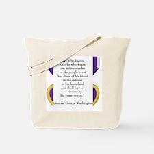 purpleheartedit Tote Bag